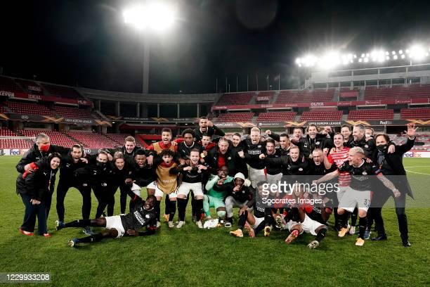 Denzel Dumfries of PSV, Jordan Teze of PSV, Richard Ledezma of PSV, Joel Piroe of PSV, Pablo Rosario of PSV, Jorrit Hendrix of PSV, Cody Gakpo of...