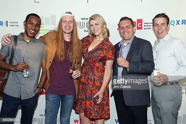 Denzel Henderson, Dylan Demaftri, Courtney Jones, Chris Woods and Steve Hopkinson attending WNYC's Radio Revelry at Tribeca Three Sixty on June 14,...