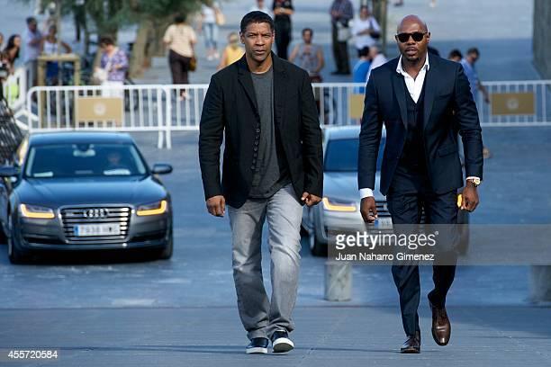 Denzel Washington and Antoine Fuqua attend 'The Equalizer' photocall during 62nd San Sebastian Film Festival on September 19 2014 in San Sebastian...
