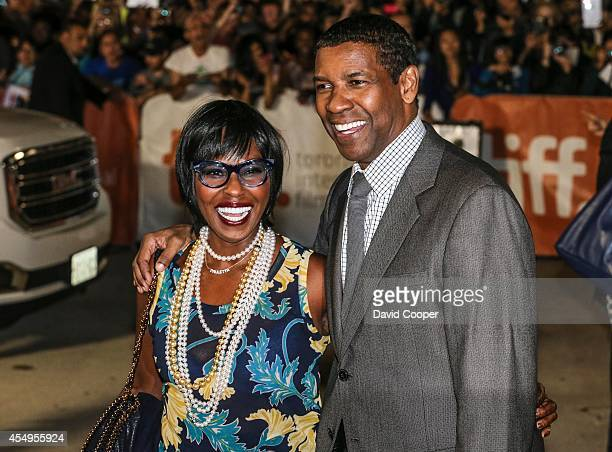 Denzel Washington and his wife Pauletta arrive on the red carpet for The Equalizer at Roy Thomson Hall
