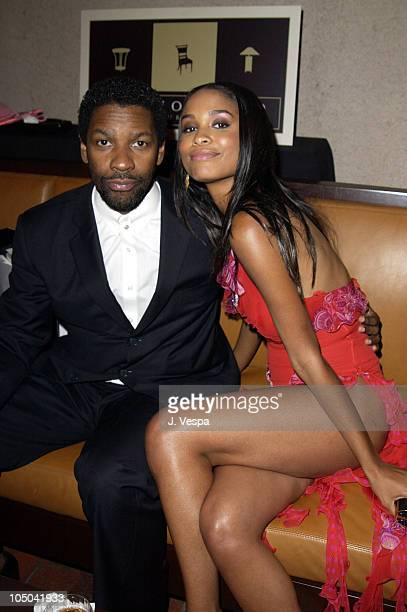 Denzel Washington and Joy Bryant during 34th NAACP Image Awards Zino Platinum Talent Lounge at Universal Amphitheatre in Universal City California...