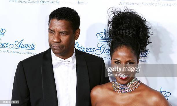 Denzel Washington and Pauletta Washington attend the 2010 Princess Grace Awards Gala at Cipriani 42nd Street on November 10 2010 in New York City