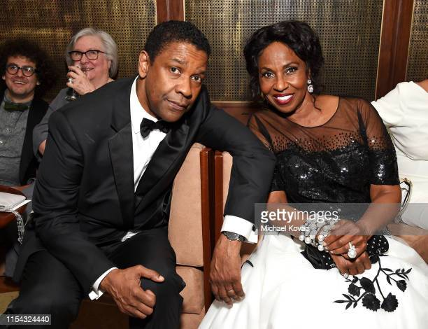 Denzel Washington and Pauletta Washington attend the 47th AFI Life Achievement Award Honoring Denzel Washington After Party at Sunset Tower Hotel on...