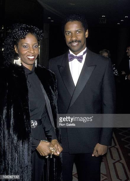 Denzel Washington and Pauletta Washington during Jewish National Funds Annual Tree of Life Awards at Sheraton Premiere Hotel in Los Angeles...