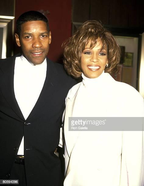 Denzel Washington and Whitney Houston