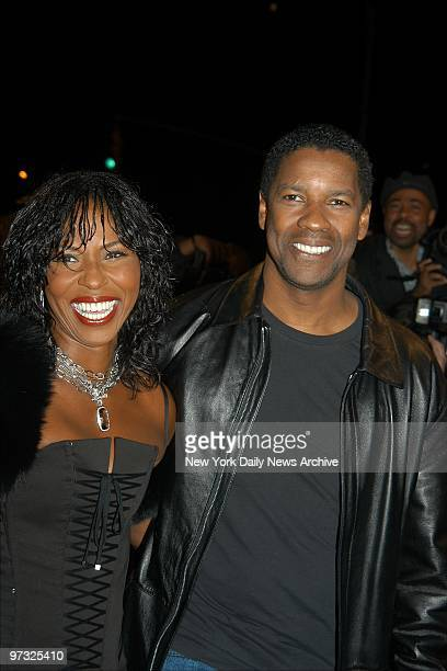 Denzel Washington and wife Pauletta arrive at Loews Cineplex Lincoln Square for the premiere of the movie Out of Time He stars in the film