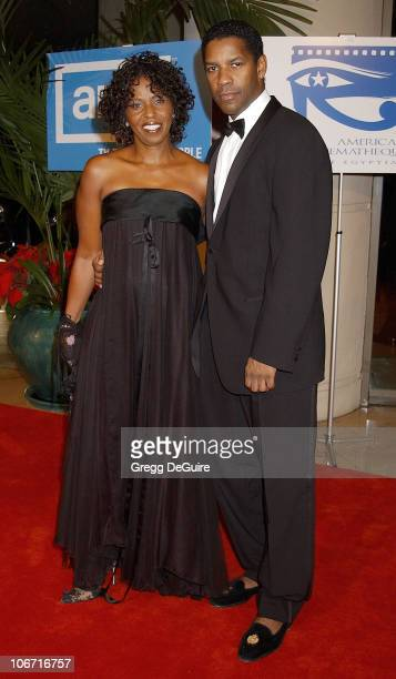 Denzel Washington and wife Pauletta during The 17th Annual American Cinematheque Award Honoring Denzel Washington at Beverly Hilton Hotel in Beverly...