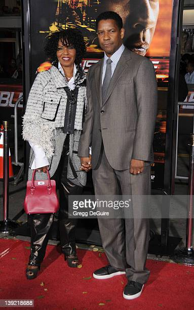 Denzel Washington and wife Pauletta Pearson arrive at the World Premiere of 'Unstoppable' at the Regency Village Theater on October 26 2010 in...
