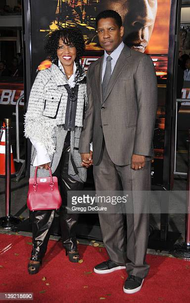 Denzel Washington and wife Pauletta Pearson arrive at the World Premiere of Unstoppable at the Regency Village Theater on October 26 2010 in Westwood...