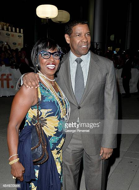Denzel Washington and wife Pauletta Pearson attend The Equalizer premiere during the 2014 Toronto International Film Festival at Roy Thomson Hall on...