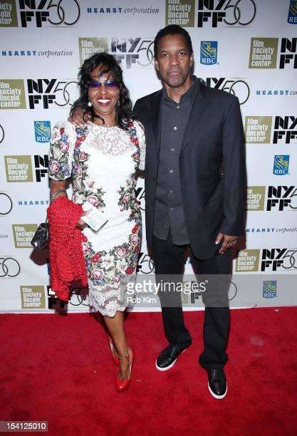 Denzel Washington and wife Pauletta Washington attend Closing Night Gala Presentation Of Flight during the 50th New York Film Festival at Alice Tully...