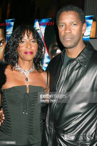 Denzel Washington and wife Pauletta Washington during Out of Time New York Premiere at Loews Theater Lincoln Square in New York City New York United...
