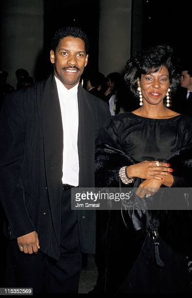 Denzel Washington and wife Pauletta Washington during The 47th Annual Golden Globe Awards at The Beverly Hilton Hotel in Beverly Hills California...