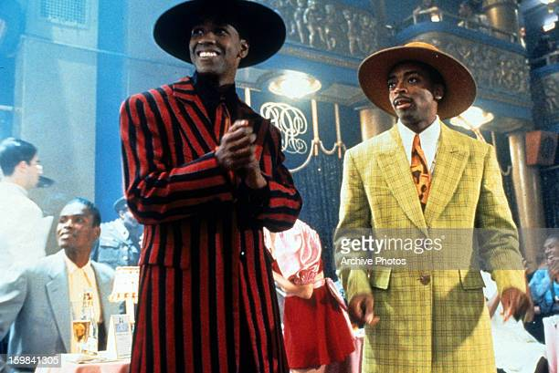Denzel Washington as Malcolm X and Spike Lee as Shorty in a scene from Lee's biopic of the African-American activist, 'Malcolm X', 1992.