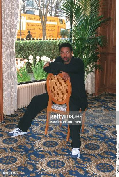 Denzel Washington at theParis Film Promotion Of Fallen