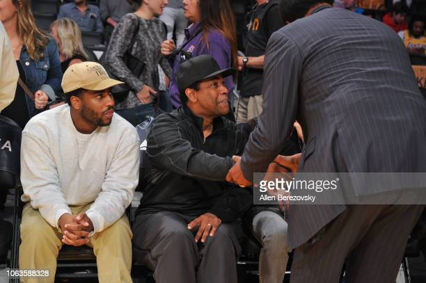 Denzel Washington attends a basketball game between the Los Angeles Lakers and the Toronto Raptors at Staples Center on November 04 2018 in Los...
