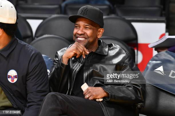 Denzel Washington attends a basketball game between the Los Angeles Lakers and the Dallas Mavericks at Staples Center on December 01 2019 in Los...