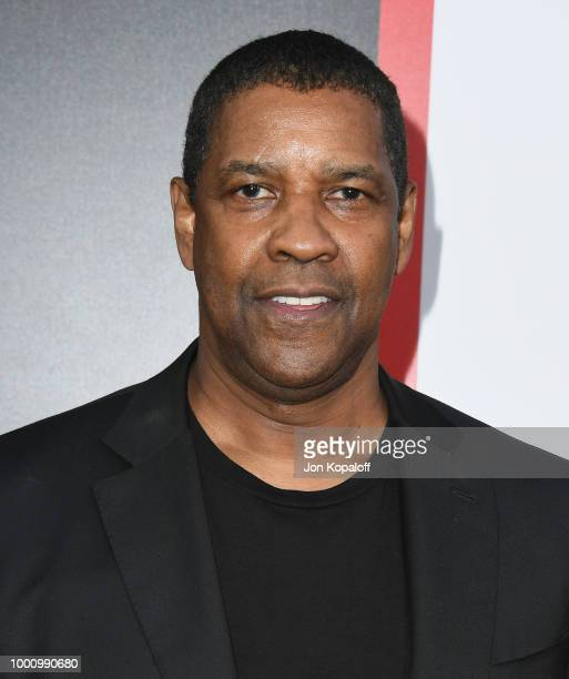 "Denzel Washington attends premiere of Columbia Picture's ""Equalizer 2"" at TCL Chinese Theatre on July 17, 2018 in Hollywood, California."