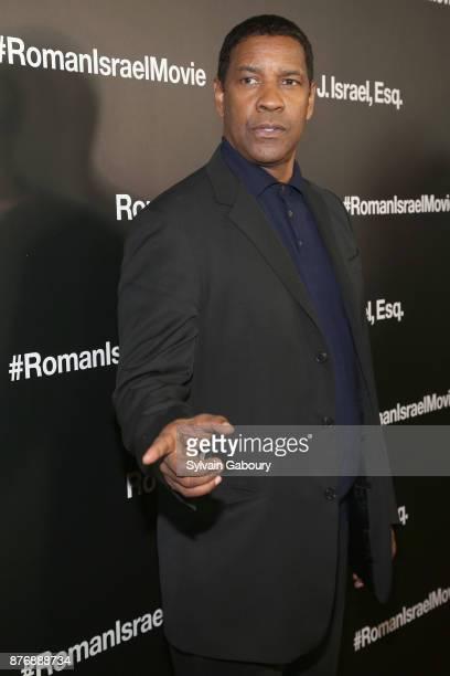 Denzel Washington attends Roman J Israel Esquire New York Premiere on November 20 2017 in New York City