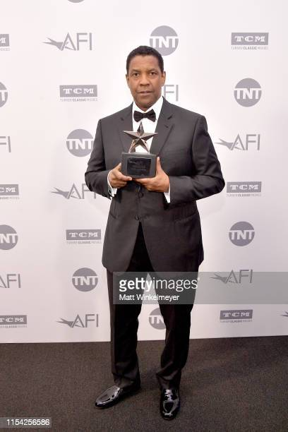 Denzel Washington attends the 47th AFI Life Achievement Award honoring Denzel Washington reception at Dolby Theatre on June 06 2019 in Hollywood...