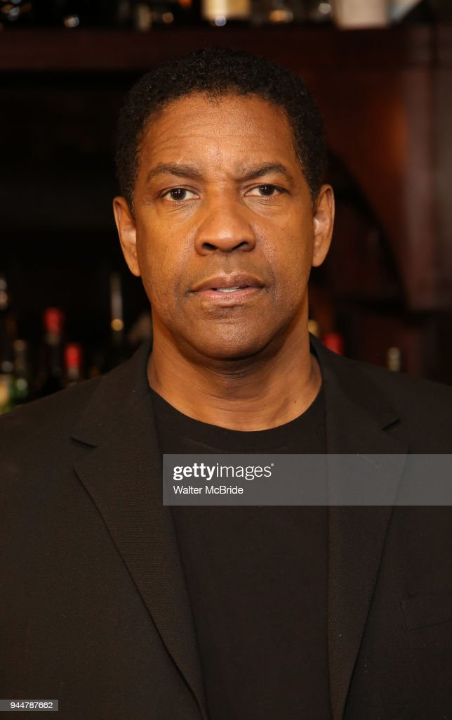 Denzel Washington attends the Broadway cast of 'The Iceman Cometh' Press Photocall at Delmonico's on April 11, 2018 in New York City.
