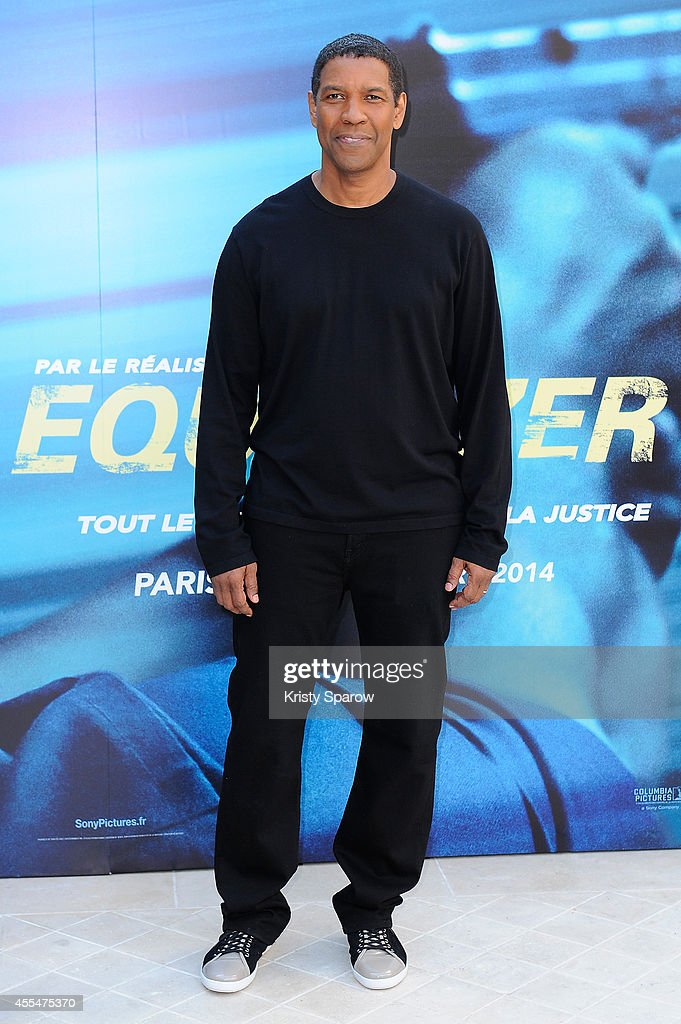 Denzel Washington attends the 'Equalizer' Paris Photocall at Hotel Bristol on September 15, 2014 in Paris, France.