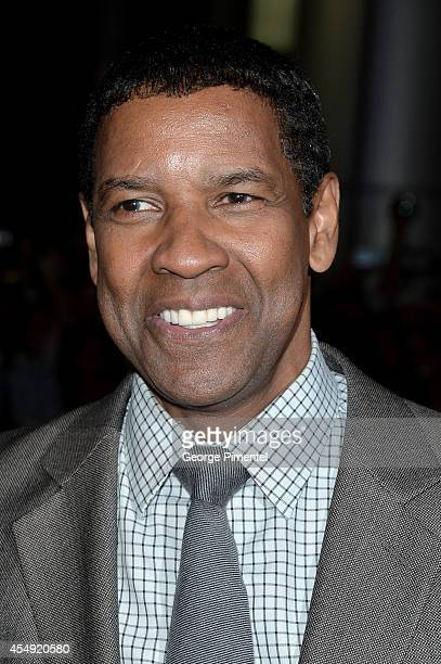 Denzel Washington attends The Equalizer premiere during the 2014 Toronto International Film Festival at Roy Thomson Hall on September 7 2014 in...