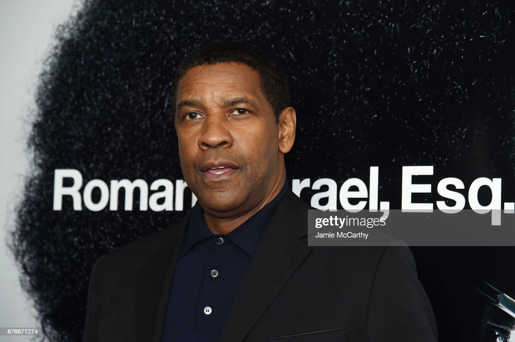 Denzel Washington attends the screening of Roman J. Israel, Esq. at Henry R. Luce Auditorium at Brookfield Place on November 20, 2017 in New York City.