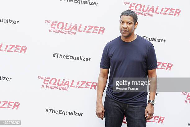 Denzel Washington attends the 'The Equalizer' photocallon at Hotel De Russie on September 17 2014 in Rome Italy