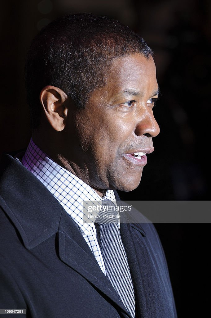 Denzel Washington attends the UK Premiere of 'Flight' at The Empire Cinema on January 17, 2013 in London, England.