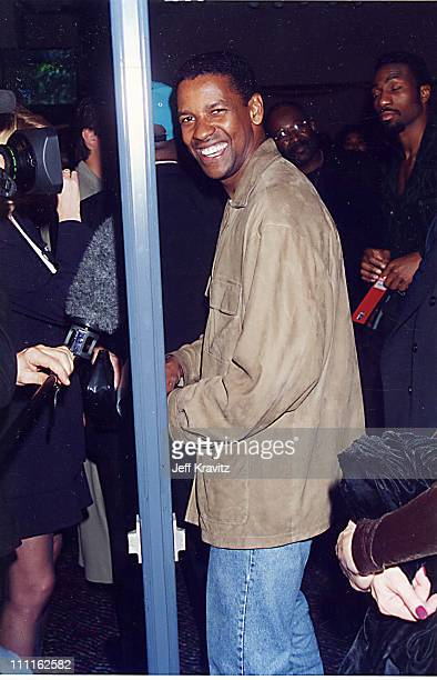 Denzel Washington during Bruno v Tyson '96 in Las Vegas Nevada United States