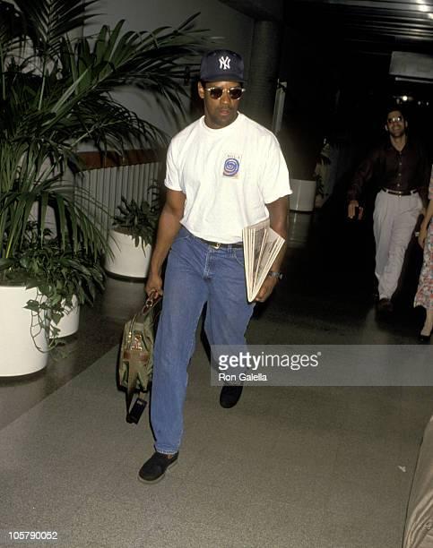 Denzel Washington during Denzel Washington Sighting at Los Angeles International Airport - June 20, 1993 at Los Angeles International Airport in Los...