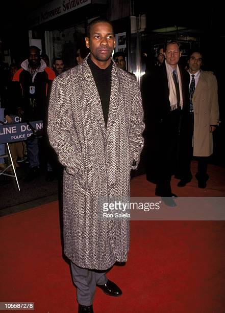 """Denzel Washington during """"Mississippi Masala"""" - Premiere at Gramercy Theater in New York City, New York, United States."""