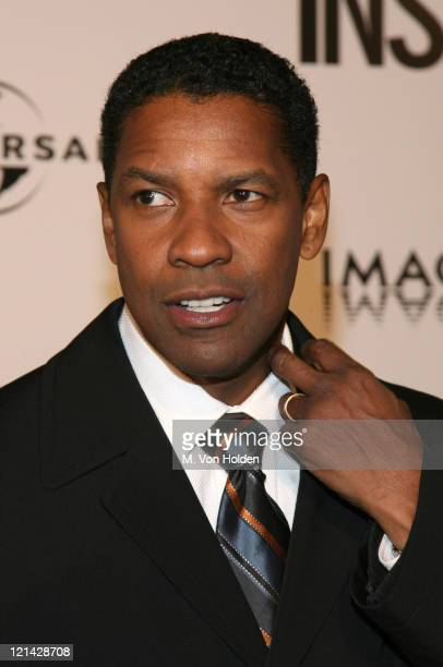 """Denzel Washington during The World Premiere of the """"Inside Man"""" at Ziegfeld Theatre in New York, New York, United States."""