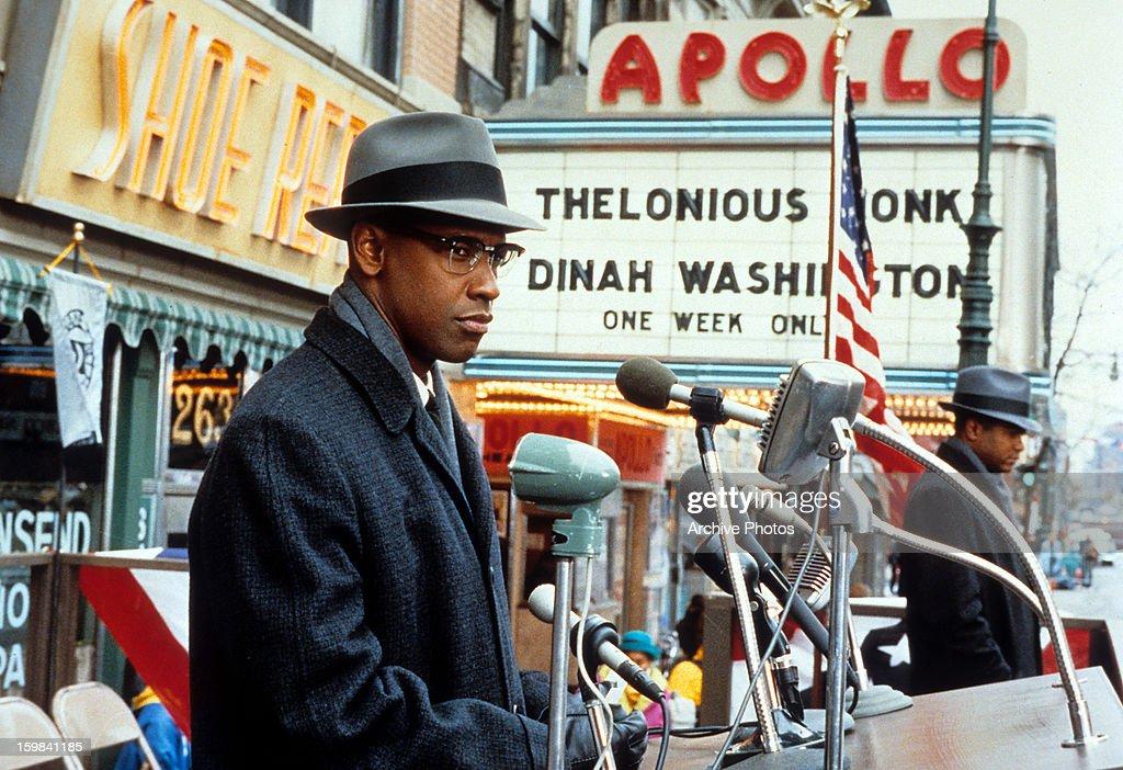 Denzel Washington In 'Malcolm X' : Foto jornalística