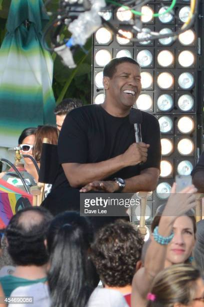 Denzel Washington is sighted taping the Despierta America show on September 5 2014 in Miami Florida