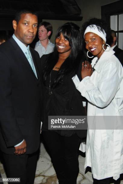 Denzel Washington Olivia Washington and Pauletta Washington attend TISCH SCHOOL SUMMER SOIREE HOSTED BY BRETT RATNER at Private Residence on June 3...