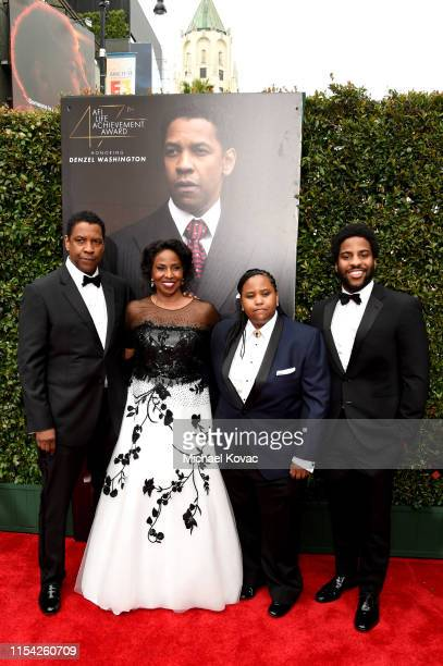 Denzel Washington, Pauletta Washington, Katia Washington and Malcolm Washington attend the 47th AFI Life Achievement Award honoring Denzel Washington...
