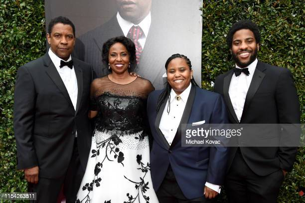 Denzel Washington Pauletta Washington Katia Washington and Malcolm Washington attend the 47th AFI Life Achievement Award honoring Denzel Washington...