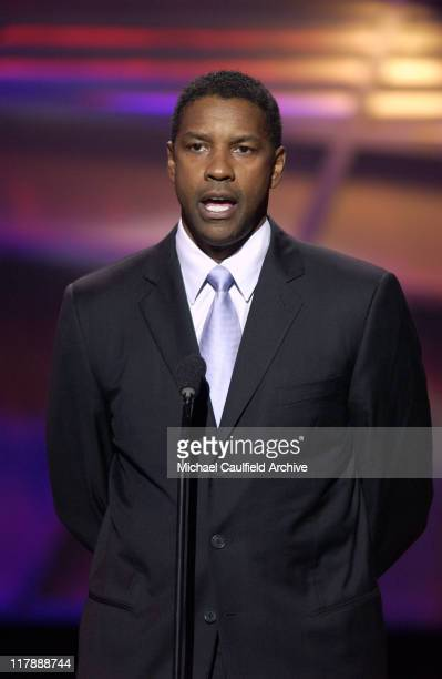 Denzel Washington presents the Arthur Ashe Award during 2004 ESPY Awards Show at Kodak Theatre in Hollywood California United States