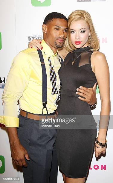 Denzel Wells and Mirjana Puhar arrive at America's Next Top Model Cycle 21 premiere party held at SupperClub Los Angeles on August 20 2014 in Los...