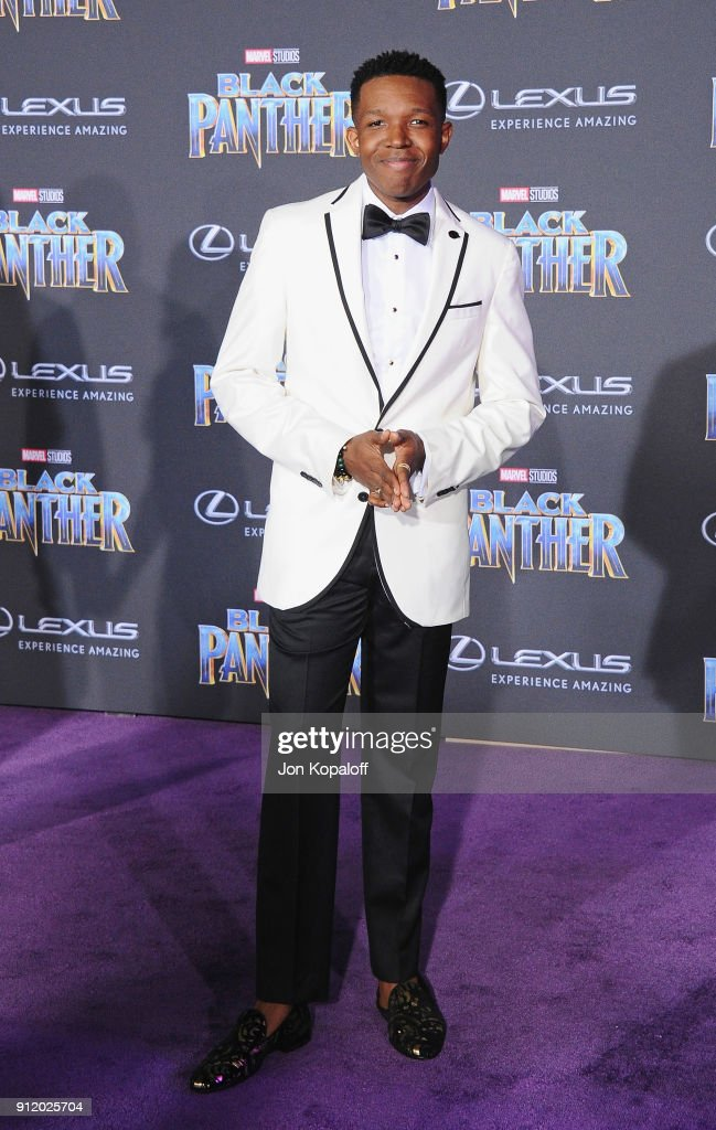 Denzel Whitaker attends the Los Angeles Premiere 'Black Panther' at Dolby Theatre on January 29, 2018 in Hollywood, California.