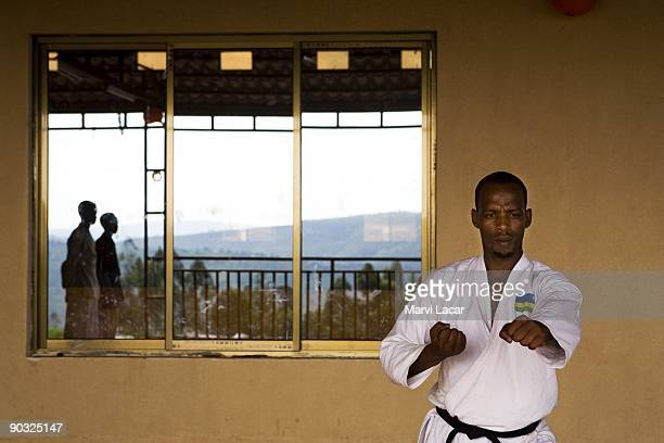 Deo Kabiligi teaches a karate class one of the afterschool activities inside the Agahozo Shalom Youth Village on March 10 2009 in Rwamagana Rwanda...