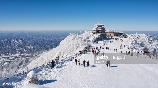 Deogyusan Seolcheonbong Peak in Winter, 덕유산 설천봉