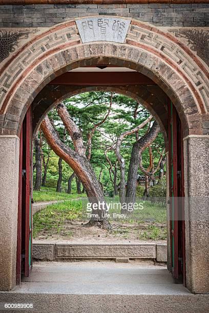 Deoksugung Palace - a gate to back yard