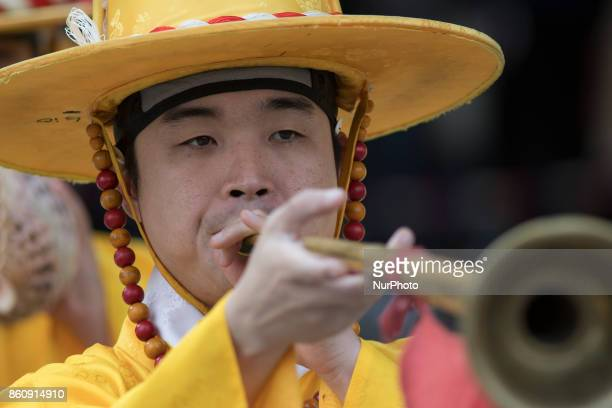Deoksugung Palace guards performing change of the guard ceremony for tourists in Seoul the capital city of South Korea Despite recent tensions with...