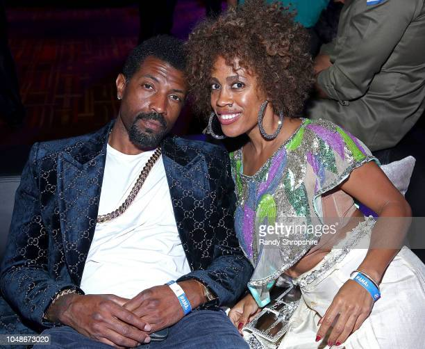 Deon Cole and guest attend the official 2018 American Music Awards after party presented by Security Benefit at Microsoft Theater Gold Ballroom on...