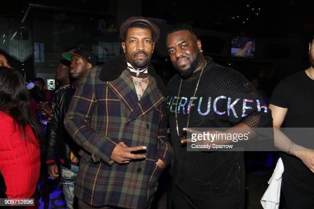 Deon Cole and Lateef Lovejoy Attend The Eric Bellinger Grammy Week Lounge Lounge at Suite 36 on January 23 2018 in New York City