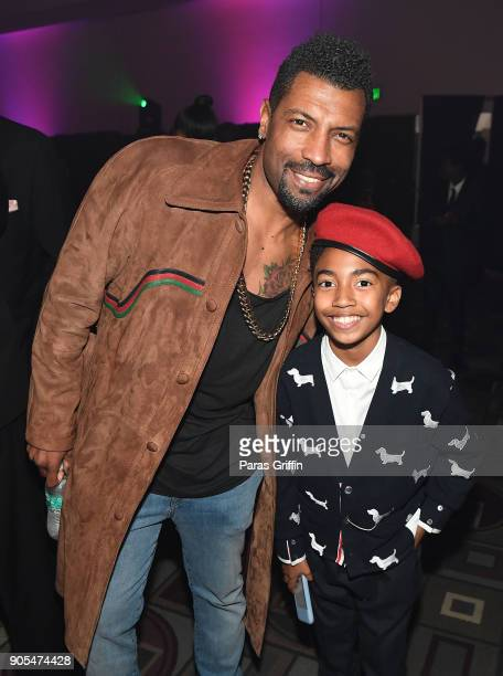 Deon Cole and Miles Brown attend 49th NAACP Image Awards After Party at Pasadena Civic Auditorium on January 15 2018 in Pasadena California
