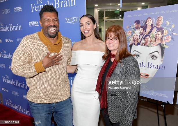 Deon Cole Whitney Cummings and Dr Louann Brizendine attend the premiere of IFC Films' 'The Female Brain' at ArcLight Hollywood on February 1 2018 in...